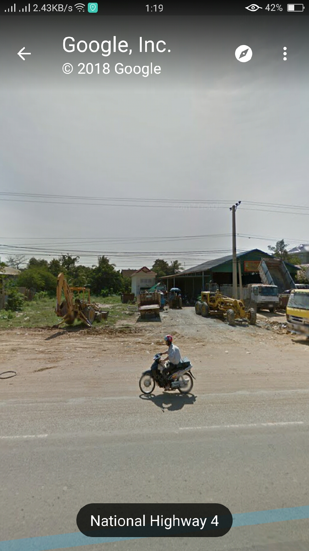 8*22m land for rent on national road 4
